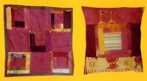 Essais de couture d'objets pratique incluant une ou des broderies