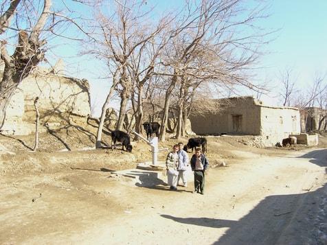 Wasserpumpe in Sufian bâlâ