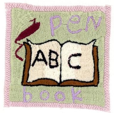 Auf den Dörfern und unter den Stickerinnen wächst ein Bewusstsein für das Lesen und die Schule. Stickerei von Farnush