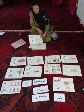 Shabana zeit uns ihre pädagogisches Material