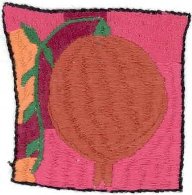 Stickerei von Mitra