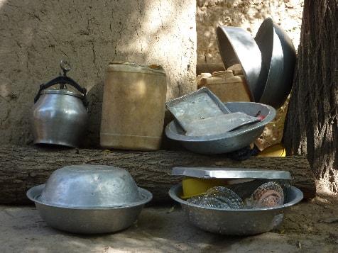 Afghanische Küchenutensilien