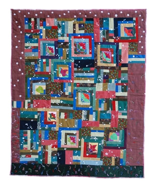 "Patchwork from Frances Fry , D, ""Cotton connexion"""