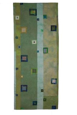 Quilt de l'allemande  Monika Schiwy-Jessen avec quelques uns des tous premiers carrés brodés