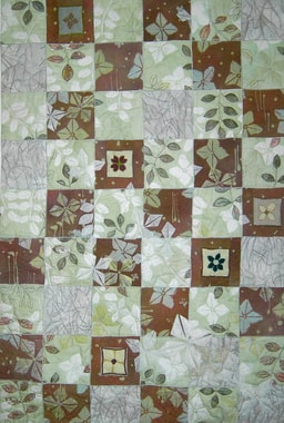 """white Blooms"", quilt by Elsbeth Nusser-Lampe"