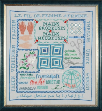 """Mains brodeuses, mains heureuse"", Marie-Luise Delcure, F"