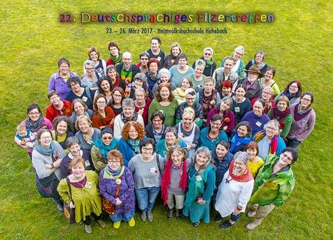 Gruppenbild der Teilnehmer am Filzertreffen 2017