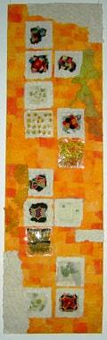 """Textilarbeit """"Sommerlicher Garten"""" von Gabi Mett"""