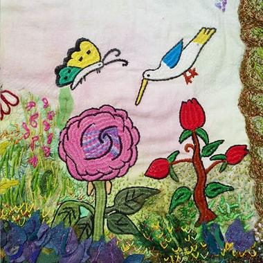 Detail aus: »My Flower Garden«<br>Christiane Séchet, Frankreich | Narges, Afghanistan