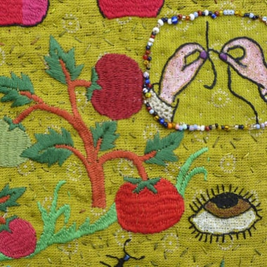 »Sunny Garden Watership Down« (detail)<br>Judith Pauly-Bender, Germany | Roya, Afghanistan