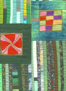 Quilt by Gerlinde Buddensiek, detail
