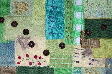"""""""Blumen sind das Lächeln der Welt"""" von Gudrun Seng, D, Detail"""