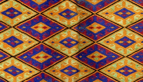 Traditional keshide embroidery