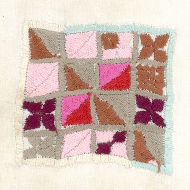Square embroidered by Rasuhagul