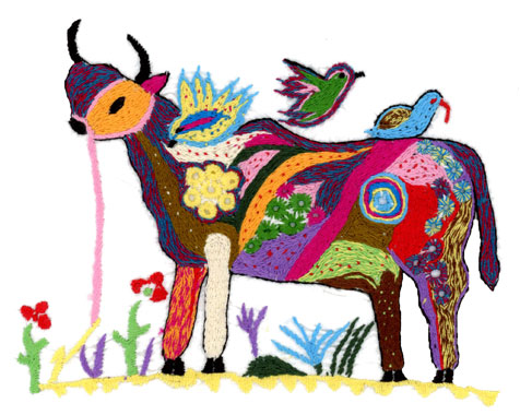 Embroidery by Anila – You can buy cows from now on in our online shop