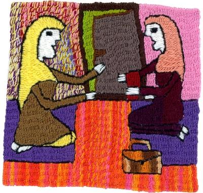 6) Meshgan, wieder zuhause angekommen, gibt ihren Lohn an ihre Mutter ab.
