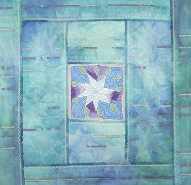 """Ice-flower"", little quilt by Rosemarie Artmann-Graf"
