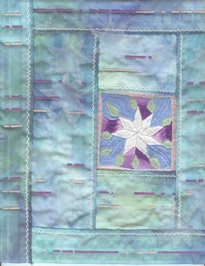 """Ice-flower"", little quilt by Rosemarie Artmann-Graf, detail"