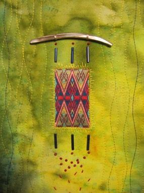 Miniaturwandbehang mit Hazarastickerei