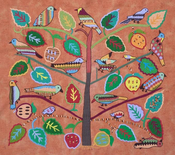 Lebensbaum von Sadja gestickt